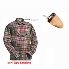 Spy Bluetooth Shirt Earpiece Set