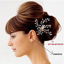 Spy Bluetooth Hair Clip Earpiece Set